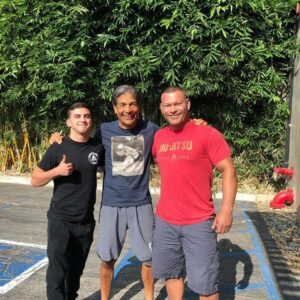 Ben Rhoton hanging out with Rorion Gracie and Tony Debelak